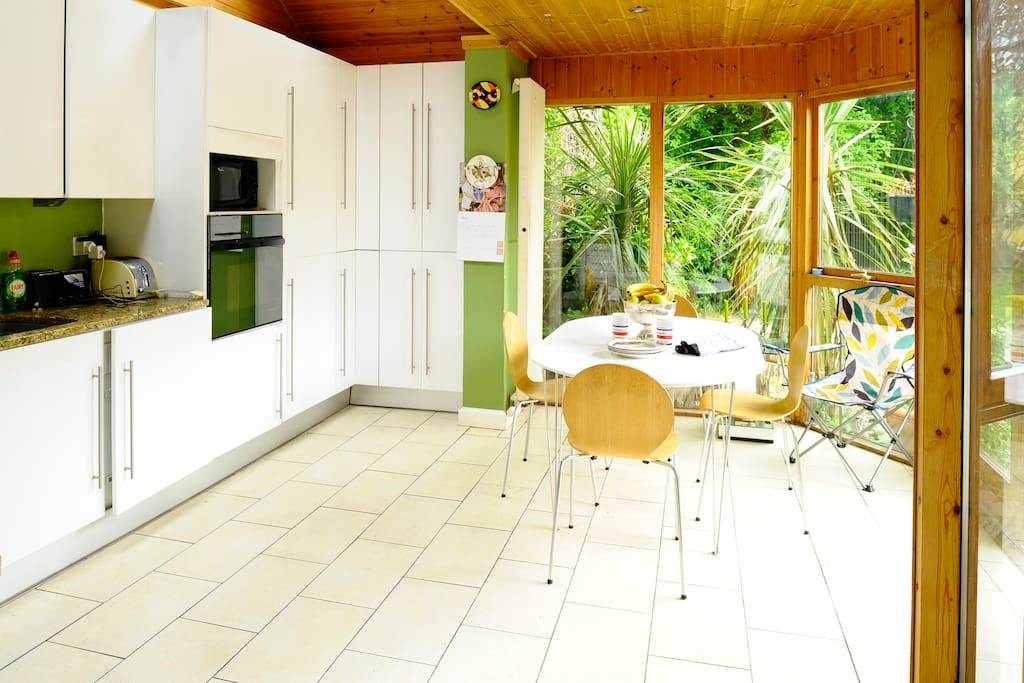 This is our conservatory /kitchen