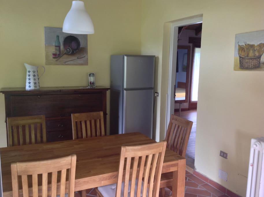 La cucina dell'appartamento Ciliegio (più grande)