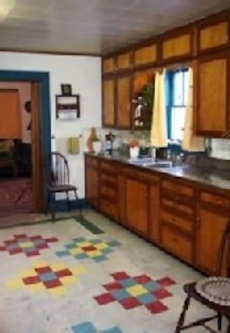 very large kitchen, fully equipped w/ stainless steel counters.