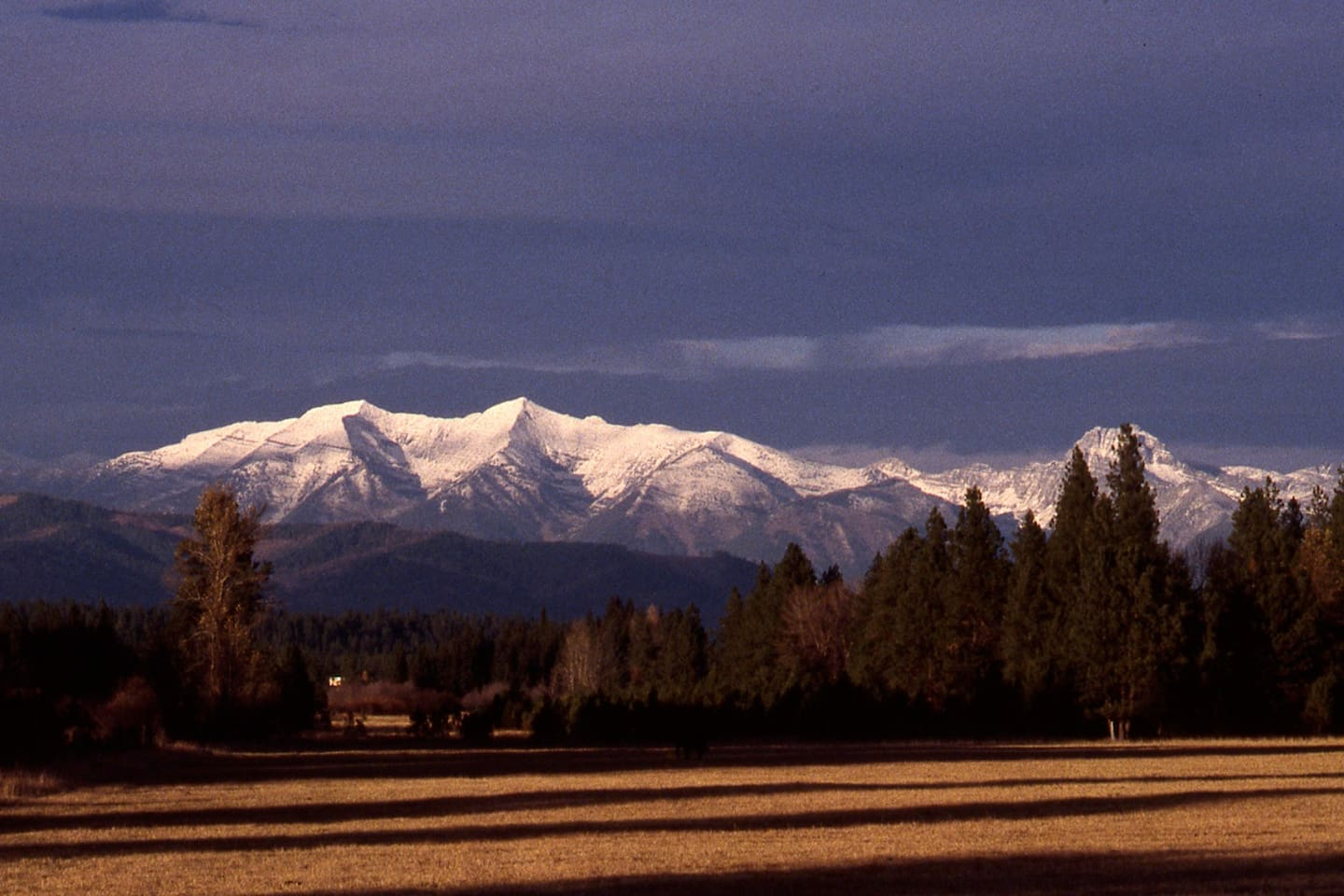 The Mission Mountains are seldom without snow