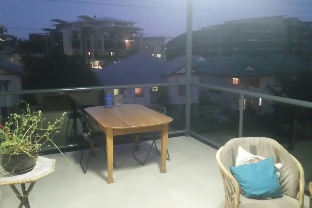 Balcony- dining area- more chairs available