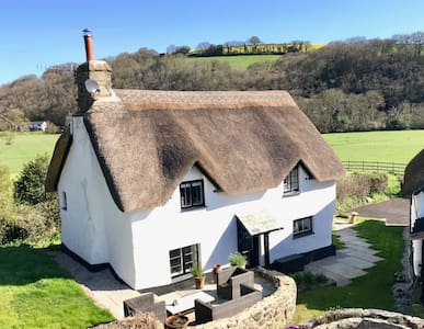 Luxury, thatched Devon bolthole on Dartmoor