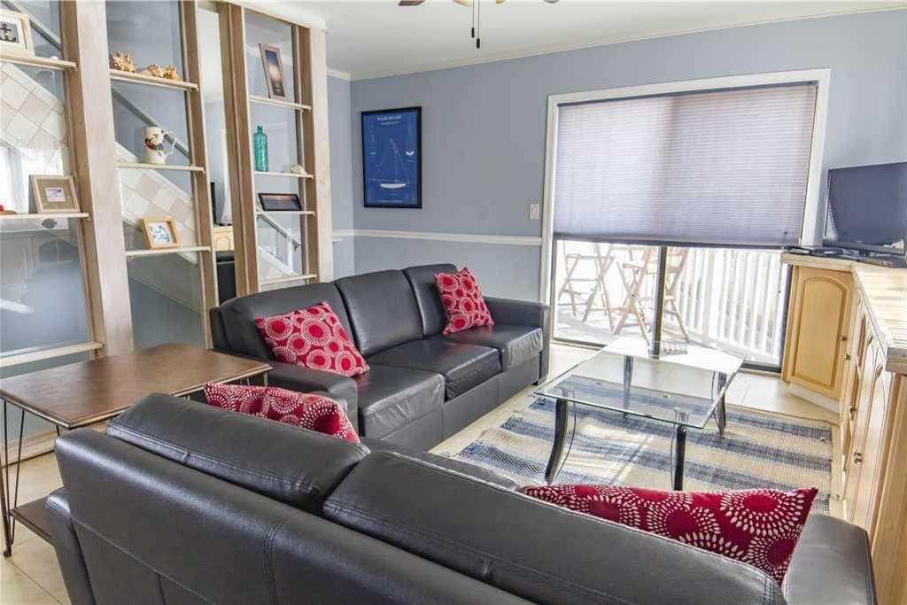 You're home! Our comfy living room, leading to the deck. - Welcome to Ocean Harbor 3, with multiple decks and balconies, new furn