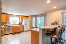 Kitchen, Water Kettle, Coffee, Large Fridge