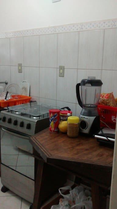 Cozinha e utensílios.