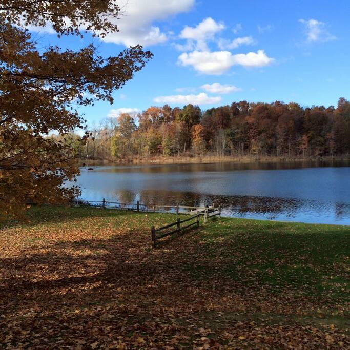 Beautiful Lake in fall