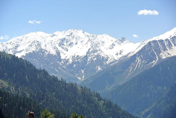 New Rakha homestay  mesmerising glacier view .