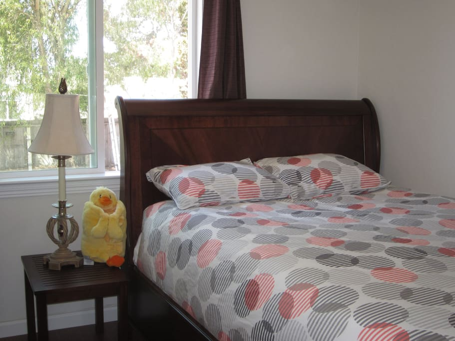 Brand New Real Wood Bed with Good Quality Mattress.