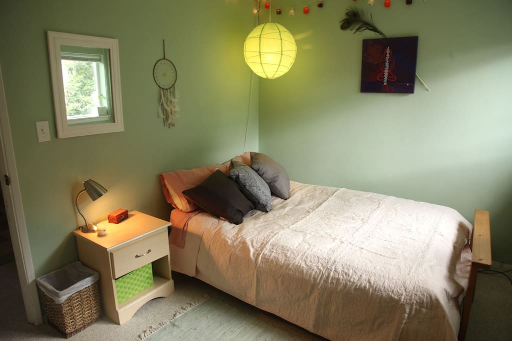 Cozy, private bedroom.