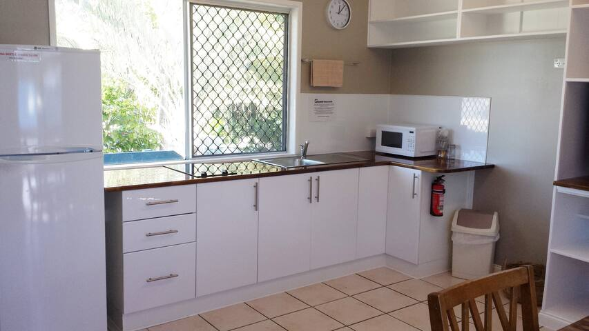 newly fitted out kitchen with all appliances.