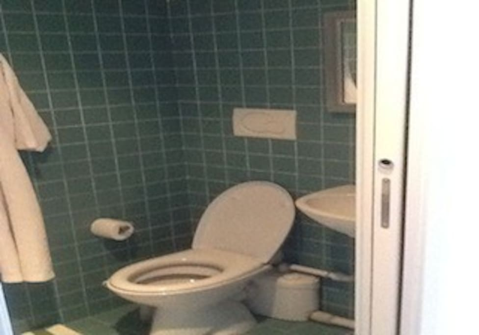 a new, private bathroom