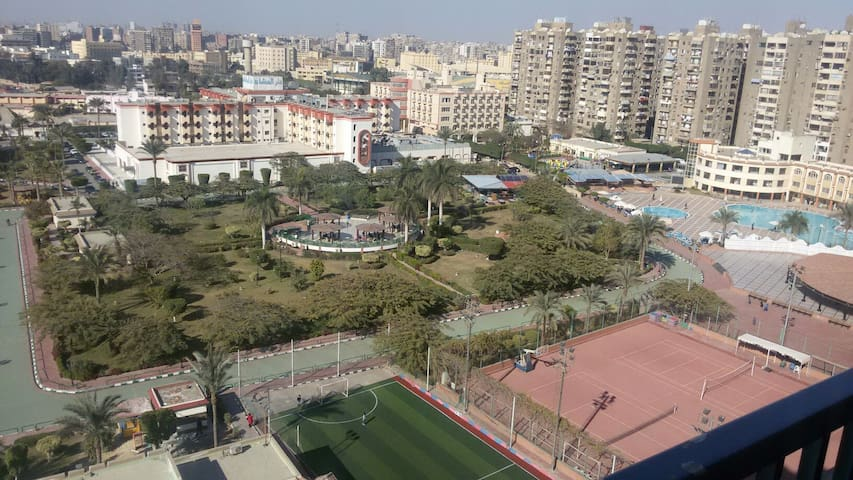 Panoramic view from a central flat