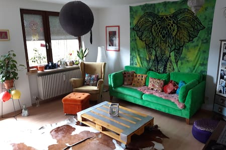 Guestroom in Bohemian student apartment