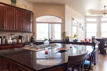Kitchen island with sitting area