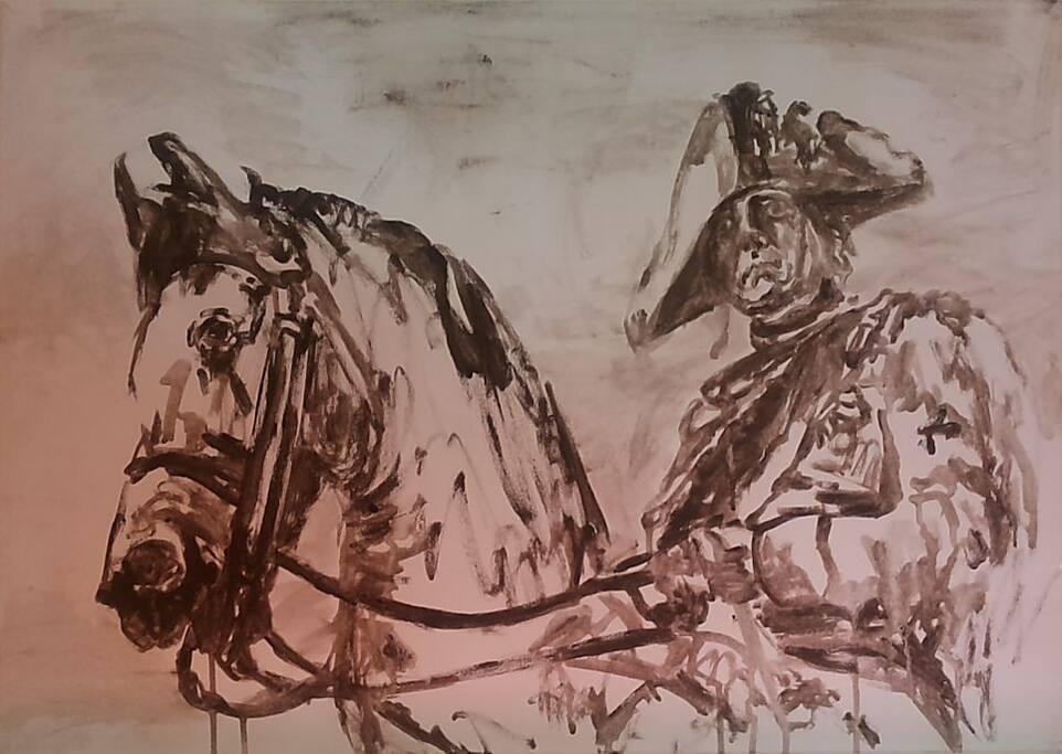 """Portrait """"Alter Fritz zu Pferde"""""""