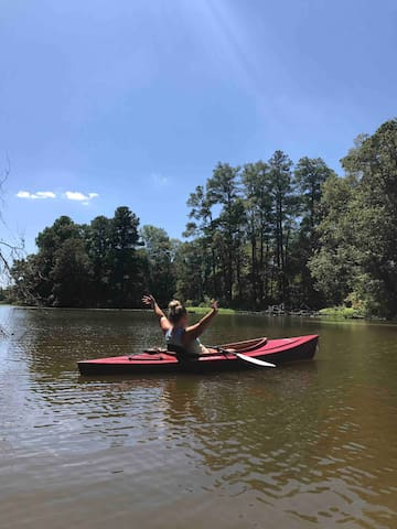 We also have 2 Old Town brand kayaks for your usage for free.  You can put in right in the backyard to go on the Lake or if you have a truck take them to put in somewhere else, like the Miles River  which is about 2 miles from our home
