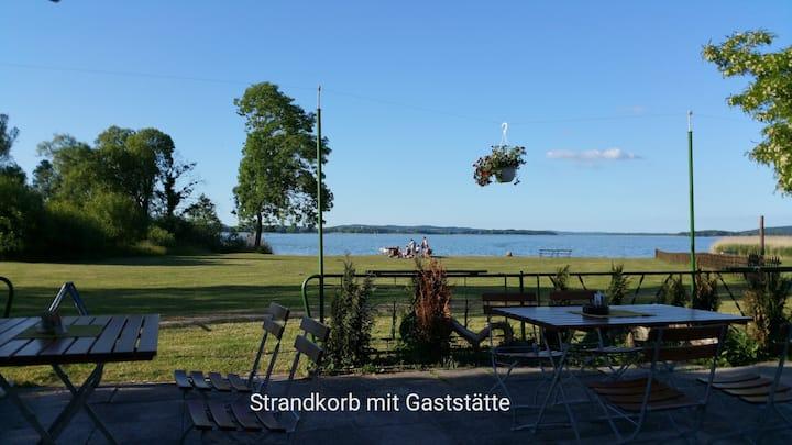 Natur-Urlaub am See, Holzhaus mit Terrasse