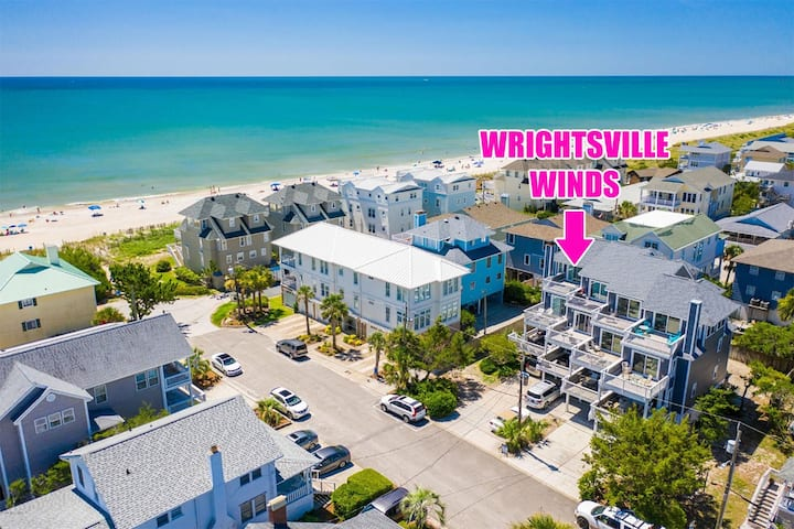 Charming townhouse with beautiful ocean views and only steps to the beach!