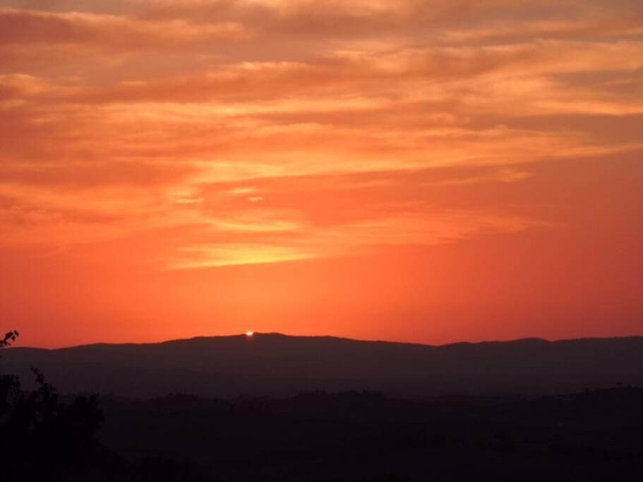 Sunset in Trequanda