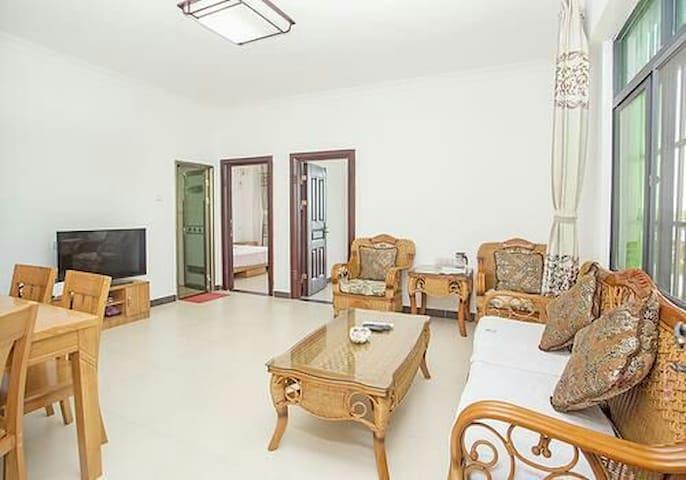 蜈蚑洲岛海域一线海景,两房一厅套房 - Sanya - Ev