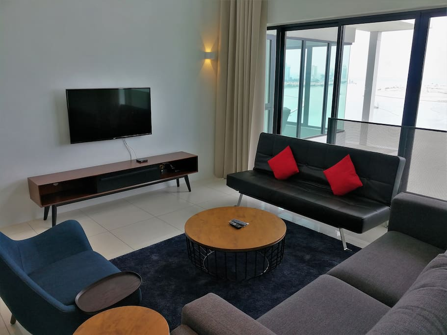 All our units are equipped with LED TV, Media box with unlimited Entertainment, 100mbps Fiber Optic High Speed Internet.