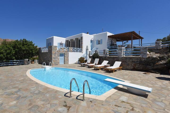 Iliaktis Villa in Poseidonia on Syros island