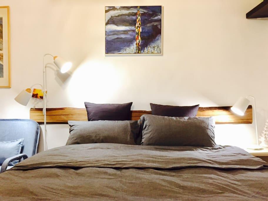 1.8米大床,舒适席梦思,纯棉宜家床品
