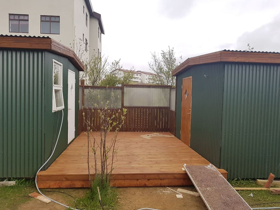 your 15 m2 cosy small house  whit brown door