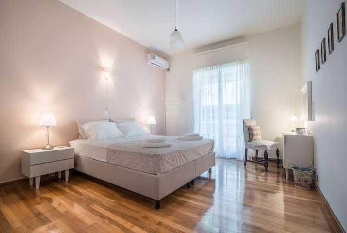 Very spacious and shiny double bedroom