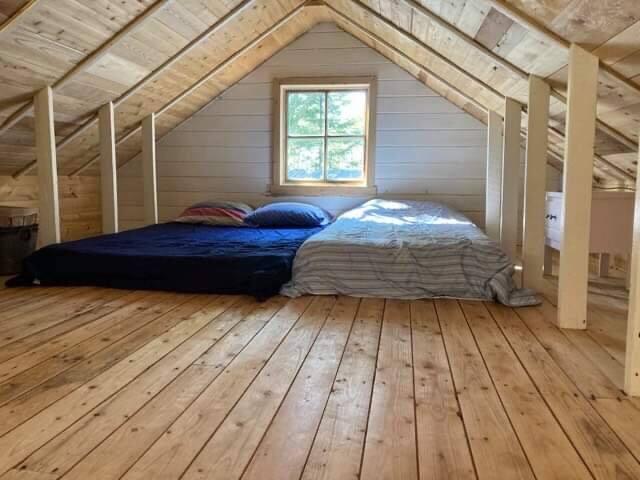 mezzanine avec lit double et simple