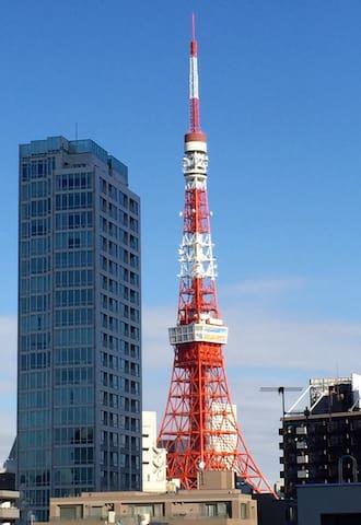 Fantastic view of Tokyo Tower! 2bed - Minato-ku - Wohnung