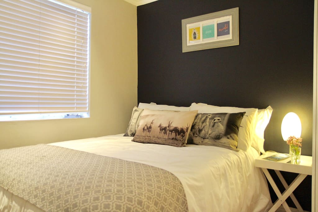 Bedroom comforts, Egyptian cotton and 2 pillow types for a great sleep