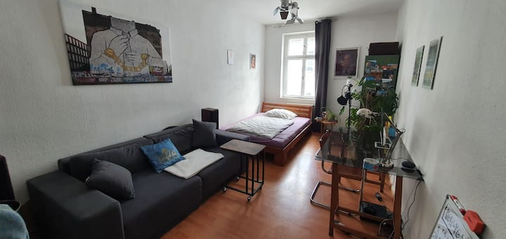 Cosy and quiet room in a typical Berlin apartment