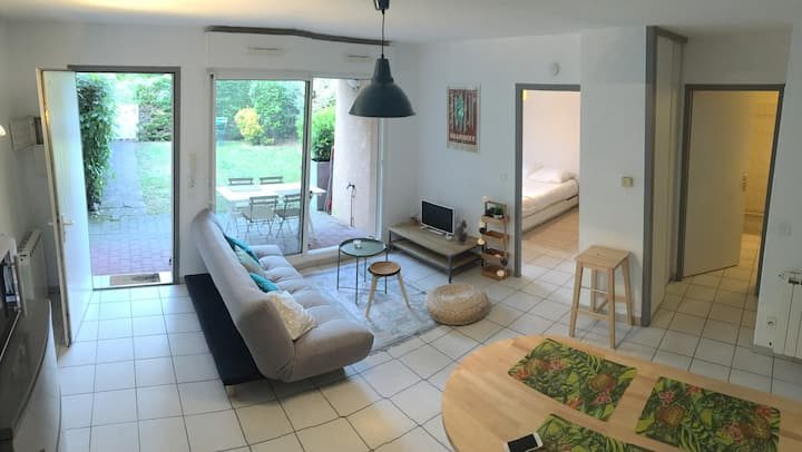 APARTMENT WITH GARDEN & FOREST VIEW
