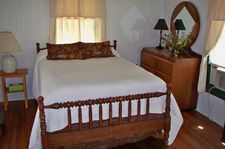 Upstairs double bed.