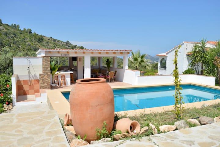 Casa JIBY 1 met prachtig uitzicht op zee en vallei