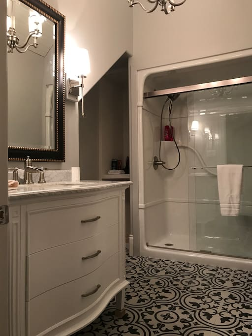 Fresh and new renovated bathroom.