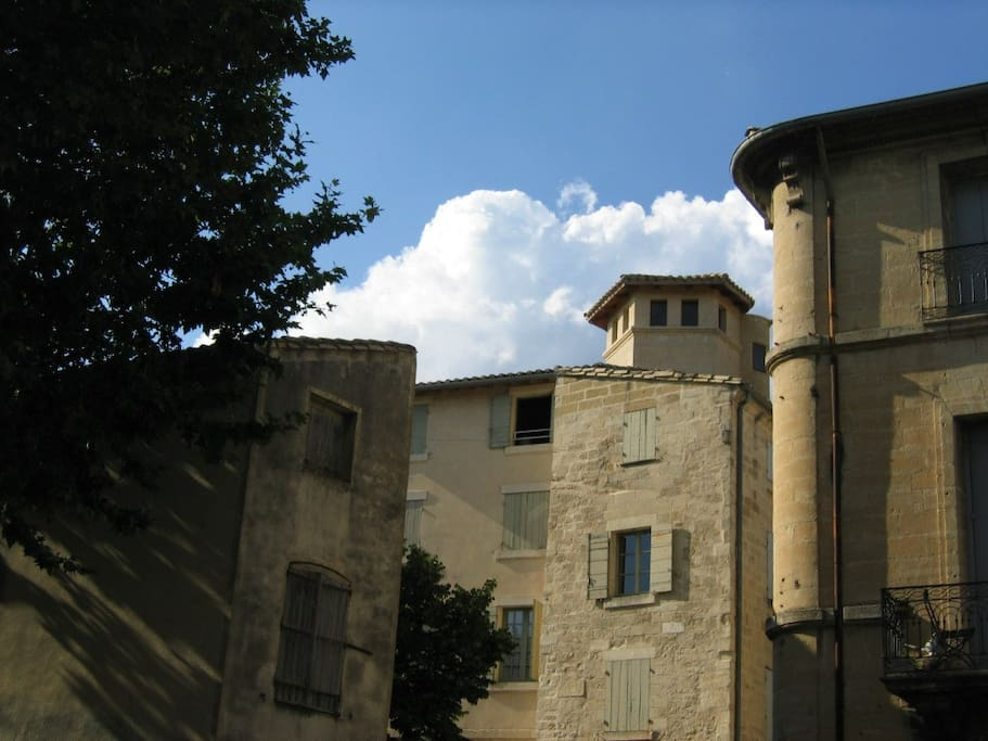 The apartment with tower from south
