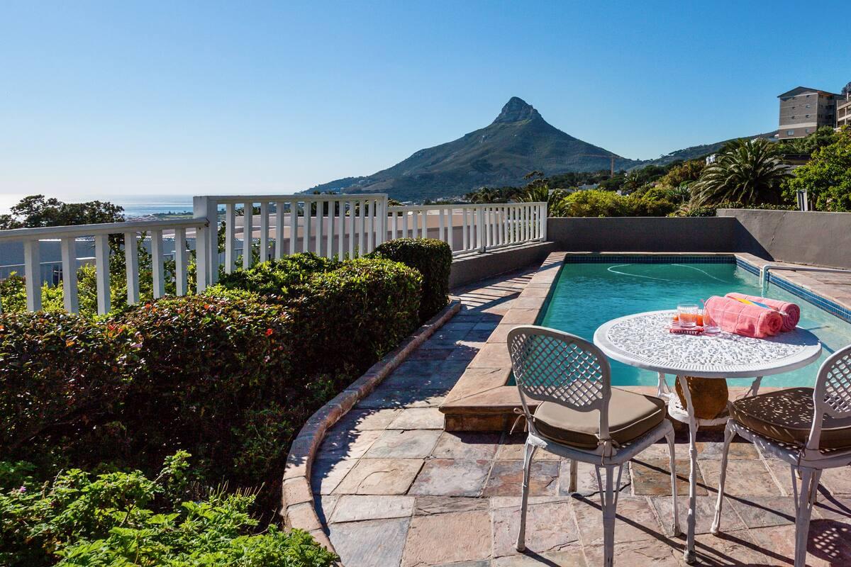 Sunny Corner Villa with Sea and Mountain Views