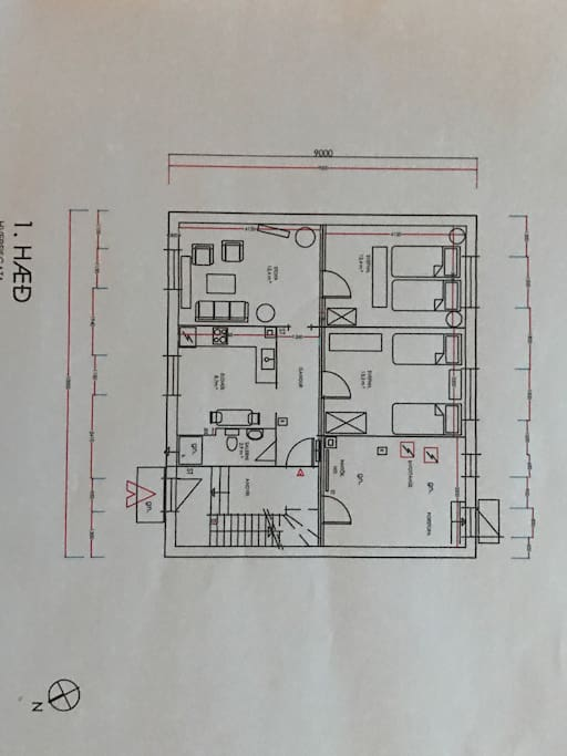As the drawing displays, we have 2 bedrooms. We are staying in one of them and the one that we rent out is next to the living room. We hop that picture will give you more visibility.