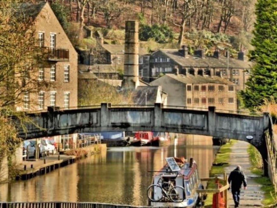 Hebden Bridge - just a 10 minute walk from the house (or 5 mins on the bus)