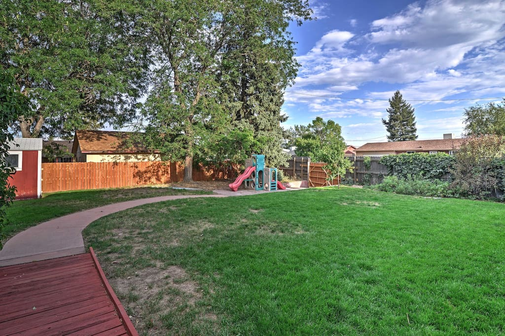This spacious backyard is the perfect place to enjoy one of Denver's 300 days of sunshine!