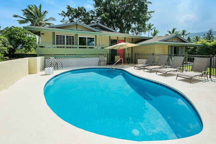 Keauhou  Main House 4 bd 4 bath private pool/spa
