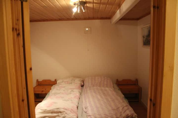 Cozy, hillside house. Room for 2 on lower level.