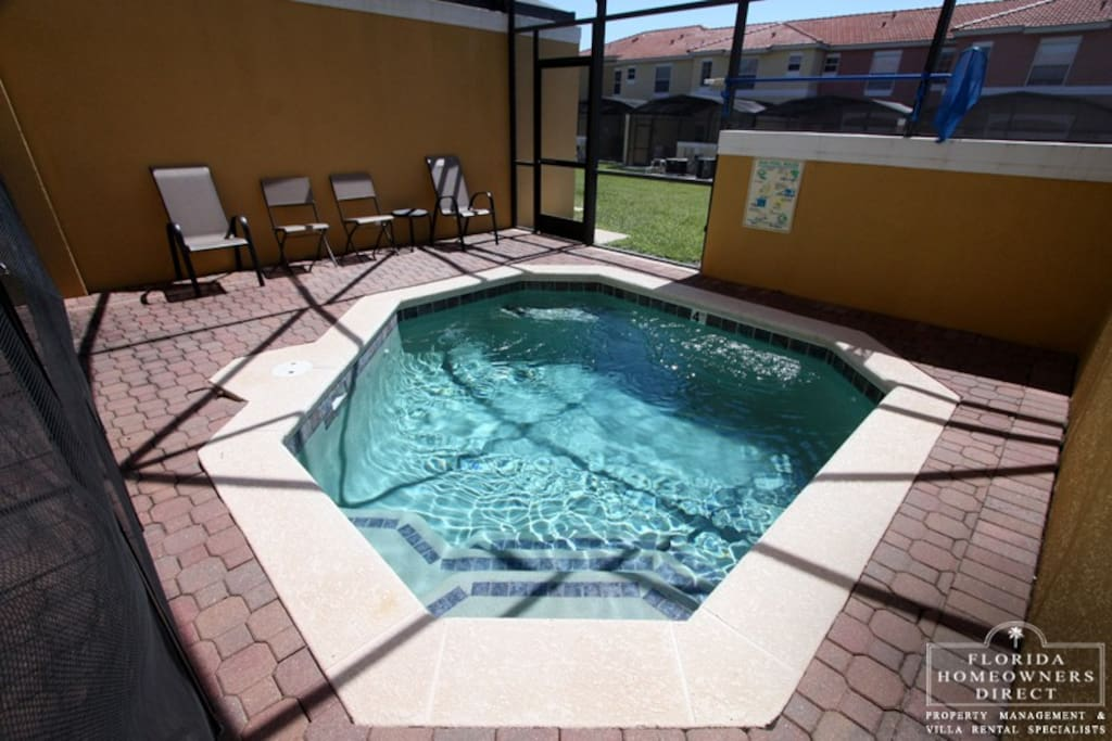 The sparkling clear, private pool is a perfect oasis in the sunshine during your vacation stay at this wonderful home. Relax and soak up the FL sun.