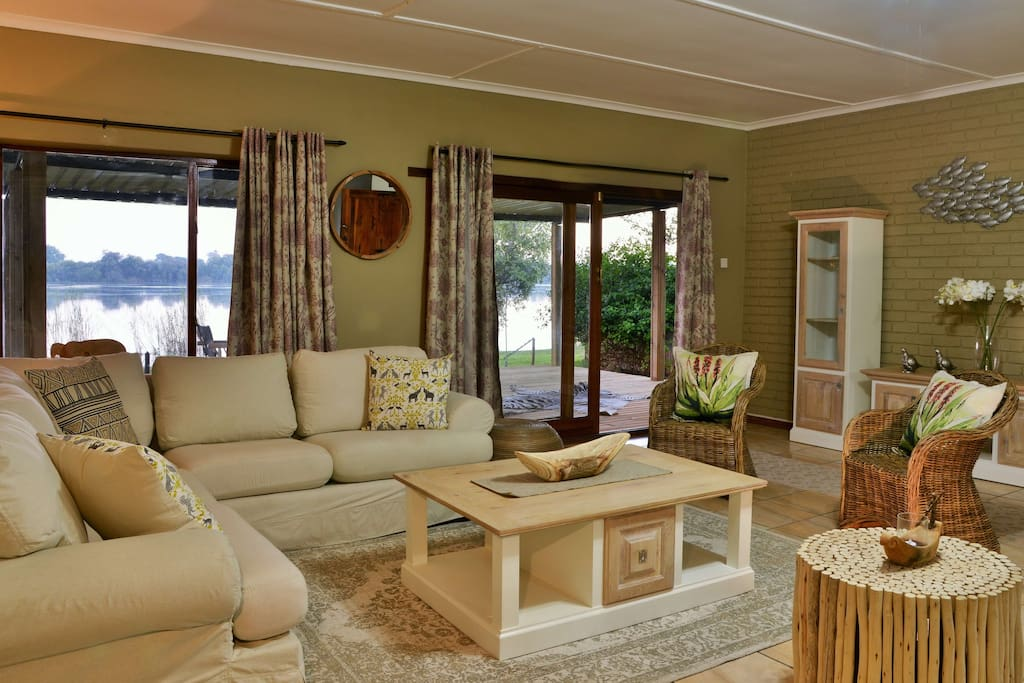 Lounge area leading onto private deck