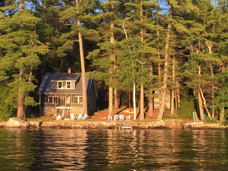 The cottage from a boat