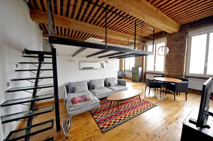 Loft Canut  in the croix rousse area