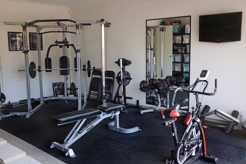 Garage gym, free usage while staying with us.