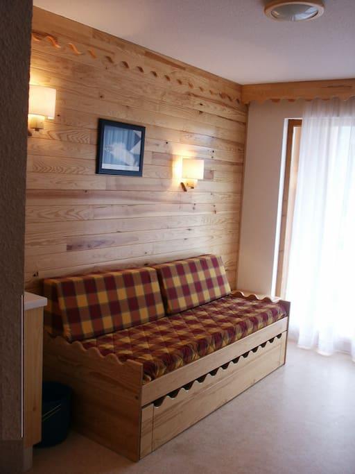Séjour avec canapé lit (2 x 1 personne)